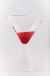 "Crimson Martini 6 1/2"" 12oz. - Set of 2"