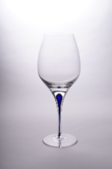 Tears & Cheers Red Wine Glass - Blue - Set of 2