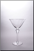 Cathy Martini Glass 7.66 in. 8.5 oz. - Set of 4