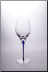 Tears & Cheers White Wine Glass - Blue - Set of 2