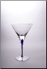 Tears & Cheers Martini Glass - Blue - Set of 2